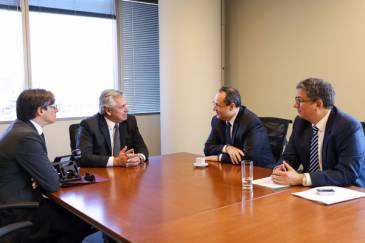 Alberto Fernández recibió el compromiso de la CAF-Banco de Desarrollo de América Latina