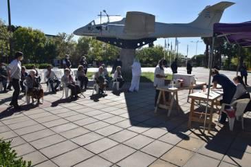 Último sábado de vacunación en la plaza Eduardo Costa y Parque Urbano