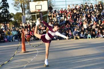 Se realizó un festival de patín artístico en el polideportivo La Torcaza
