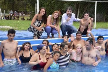 Moreira visitó la Colonia de Verano para personas con discapacidad