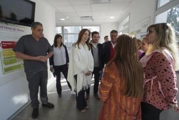 Vidal en Lobos: recorrió un hospital y dialogó con vecinos
